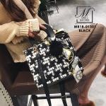กระเป๋าสะพายกระเป๋าถือ แฟชั่นงานนำเข้าสไตล์แบรนด์ดังสุดหรู MB18-01301-BLK [สีดำ]