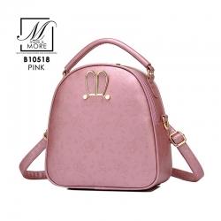 กระเป๋าสะพายเป้กระเป๋าถือ เป้แฟชั่นนำเข้าแบบสุดน่ารัก B10518-PNK (สีชมพู)