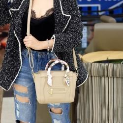 กระเป๋าสะพายแฟชั่น กระเปาสะพายข้างผู้หญิง ซีลีนคลาสสิค (CELINE CLASSIC) อะไหล่ทอง [สีน้ำตาล ]
