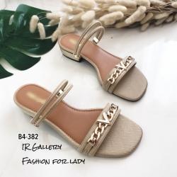 รองเท้าแตะคาดlv B4-382-ตาล (สีน้ำตาล)