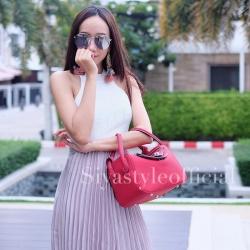 กระเป๋าสะพายแฟชั่น กระเป๋าสะพายข้างผู้หญิง Lindy 26 cm [สีแดง]
