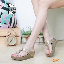 พร้อมส่ง รองเท้าเพื่อสุขภาพ ฟิทฟลอป F1075-GLD [สีทอง]