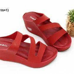 พร้อมส่ง รองเท้าส้นเตารีดแบบสวม 40075-MAR [สีม่วง]