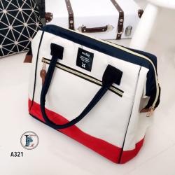 กระเป๋าสะพายแฟชั่น กระเปาสะพายข้างผู้หญิง ถือหรือสะพายไหล่ก็ได้ สไตล์แบรนด์ดัง Anello [สีทูโทน ]