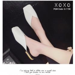 พร้อมส่ง รองเท้าแตะงานสวม หน้าตัด G-1190-WHI [สีขาว]