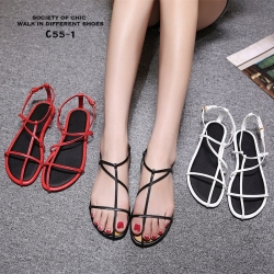 รองเท้าแตะผู้หญิงรัดส้นสีดำ Celine sandals LB-C55-1-BLK