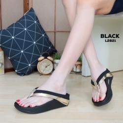 พร้อมส่ง รองเท้าเพื่อสุขภาพ ฟิทฟลอปหนีบ L2821-BLK [สีดำ]