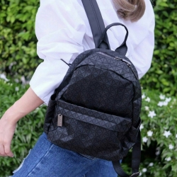 กระเป๋าเป้ผู้หญิง กระเป๋าสะพายหลังแฟชั่น Bao Bao mini บล็อคเล็ก Logo [สีดำ ]