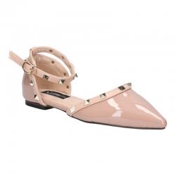 พร้อมส่ง รองเท้าส้นเตี้ย K9018-PNK [สีชมพู]