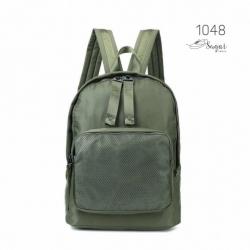พร้อมส่ง กระเป๋าเป้ผ้าไนล่อนสไตล์ญี่ปุ่น - 1048 [สีเขียว]
