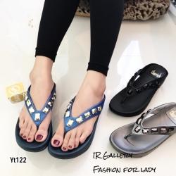 รองเท้าแตะเพื่อสุขภาพสีน้ำเงิน คีบ YT122-น้ำเงิน