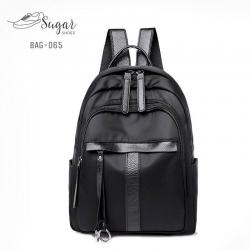แบบมาใหม่ ทรงสุดฮิต กระเป๋าเป้ผู้หญิงผ้าไนล่อนอย่างดี BAG-065-ดำ (สีดำ)