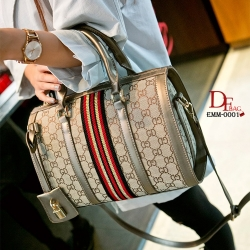 กระเป๋าถือทรงหมอนคาด แถบสี3Tone EMM-0001-GLD (สีทอง)