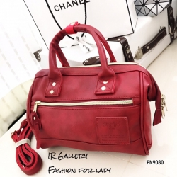 กระเป๋าถือ กระเป๋าสะพายข้างผู้หญิง งานพรีเมี่ยม วัสดุหนังพียูคุณภาพดี Anello [สีแดง ]