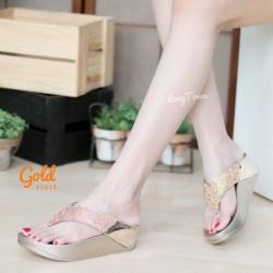 พร้อมส่ง รองเท้าเพื่อสุขภาพ ฟิทฟลอปหนีบ F1013-GLD [สีทอง]