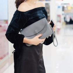 กระเป๋าครัช กระเป๋าถือ กระเป๋าครัช ฝาพับ [สีเทา]