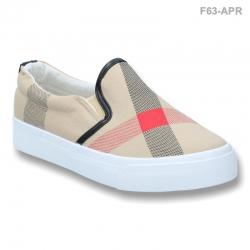 พร้อมส่ง รองเท้าผ้าใบแฟชั่น F63-APR [สีแอปริคอท]