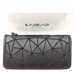 กระเป๋าตัง กระเป๋าเงินผู้หญิง งานปั้มLOGO baobao style แบบฝาพับ [สีดำ ]