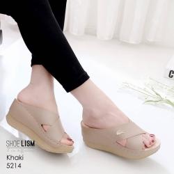 งานสวยรองเท้าเตารีดสีกากี ที่นิ่มสุดใน3 โลก LB-5214-กากี