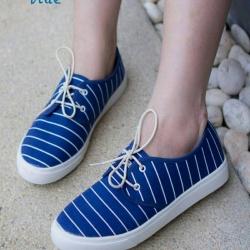 พร้อมส่ง รองเท้าผ้าใบแฟชั่น F59088-BLU [สีน้ำเงิน]