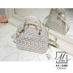 กระเป๋าแฟชั่นนำเข้าแบรนด์ axixi แบบยอดฮิต AX-12480-CRM (สีครีม)