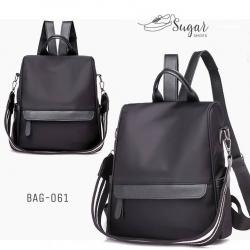กระเป๋าเป้ผู้หญิงสะพายแบบน่ารัก สะพายได้หลายแบบ BAG-061-ดำ (สีดำ)