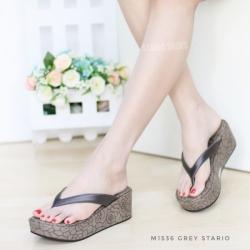 พร้อมส่ง รองเท้าเพื่อสุขภาพ หนีบส้นโฟม M1536-GRY [สีเทา]