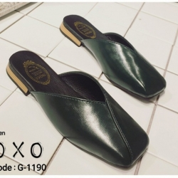 พร้อมส่ง รองเท้าแตะงานสวม หน้าตัด G-1190-GRN [สีเขียว]