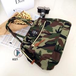 กระเป๋าสะพายแฟชั่น กระเปาสะพายข้างผู้หญิง ถือหรือสะพายไหล่ก็ได้ สไตล์แบรนด์ดัง Anello [ลายทหาร ]