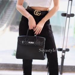 พร้อมส่ง กระเป๋าสะพายข้างผู้หญิง BK super 25 cm [สีดำ]