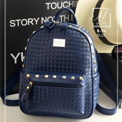กระเป๋าสะพายเป้กระเป๋าถือ เป้แฟชั่นนำเข้าดีไซน์เก๋ส์ B-96-BLU (สีน้ำเงิน)