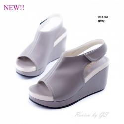 พร้อมส่ง รองเท้าลำลอง รัดส้น 981-93A5-GRY [สีเทา]