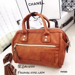 กระเป๋าถือ กระเป๋าสะพายข้างผู้หญิง งานพรีเมี่ยม วัสดุหนังพียูคุณภาพดี Anello [สีแทน ]