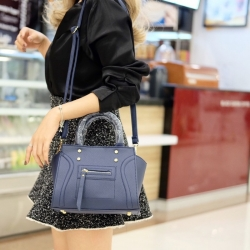 กระเป๋าสะพายแฟชั่น กระเป๋าสะพายข้างผู้หญิง ถือสวยๆก็ได้อะไหล่สีทอง [สีกรม ]