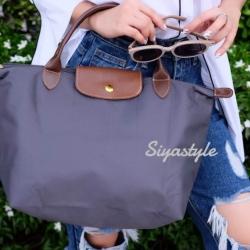 กระเป๋าสะพายแฟชั่น กระเป๋าสะพายข้างผู้หญิง ลองชอม style รุ่น Original [สีเทา ]