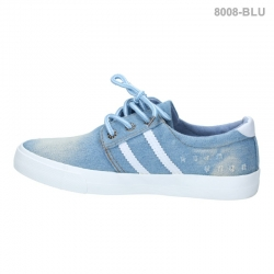 พร้อมส่ง รองเท้าผ้าใบแฟชั่น 8008-BLU [สีน้ำเงิน]