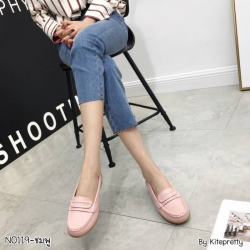 พร้อมส่ง รองเท้าคัทชูส้นเตี้ย N0119D4-PNK [สีชมพู]