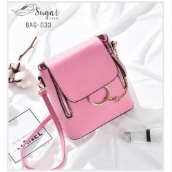 พร้อมส่ง กระเป๋าสะพายผู้หญิง - BAG-033 [สีชมพู]