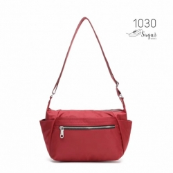 พร้อมส่ง กระเป๋าสะพาย Crossbody ผ้าไนล่อน-1030 [สีแดง]