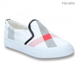 พร้อมส่ง รองเท้าผ้าใบแฟชั่น F63-WHI [สีขาว]