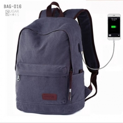 พร้อมส่ง กระเป๋าเป้ผู้ชายผ้าแคนวาส-BAG-016 [สีม่วง]