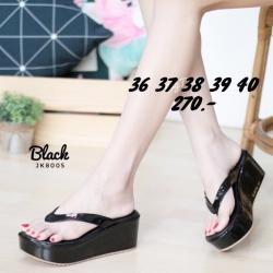 พร้อมส่ง รองเท้าเพื่อสุขภาพ ส้นโฟม JK8005-BLK [สีดำ]