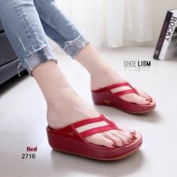 รองเท้าแตะเพื่อสุขภาพ หูหนีบ หน้าเท้าว้างใส่สบาย [สีแดง ]
