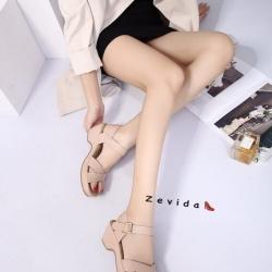 พร้อมส่ง รองเท้าแตะรัดส้น สไตล์เกาหลี 17-9247B4-PNK [สีชมพู]