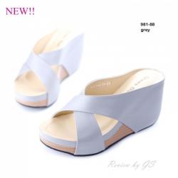 พร้อมส่ง รองเท้าลำลอง แบบสวม 981-88C6-GRY [สีเทา]