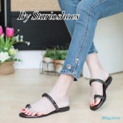 พร้อมส่ง รองเท้าแตะผู้หญิง M1843-GRY [สีเทา]