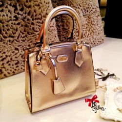 กระเป๋าถือผู้หญิง กระเป๋าสะพายข้างผู้หญิง หนังนิ่ม Style LYN งานTop Mirror [สีทอง ]