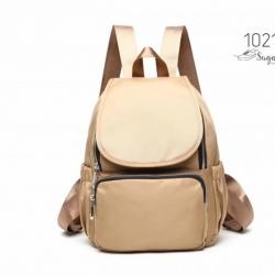 พร้อมส่ง กระเป๋าเป้ผ้าไนล่อนสไตล์ญี่ปุ่น-1021 [สีแทน]