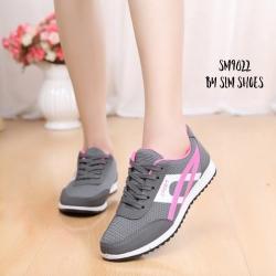 พร้อมส่ง รองเท้าผ้าใบผู้หญิง SM9022-GRY [สีเทา]