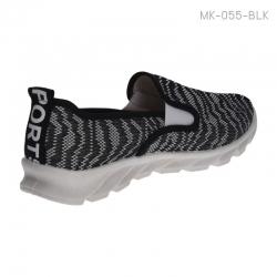 พร้อมส่ง รองเท้าผ้าใบแฟชั่น MK-055-BLK [สีดำ]